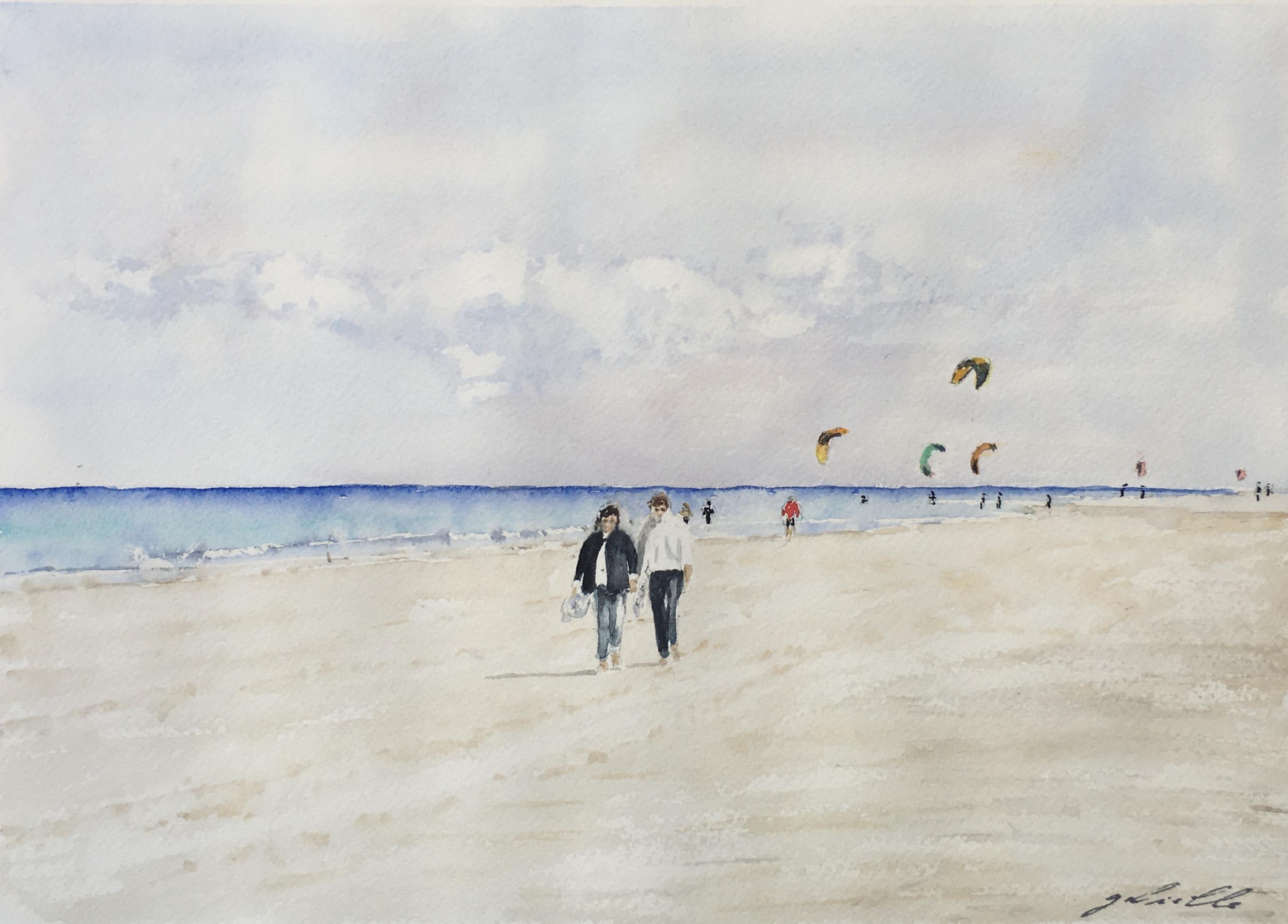Papotage sur la plage